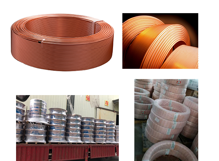 "High quality 1/4""-3/4"" air conditioner pancake coil copper pipe or copper tube for refrigeration"
