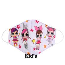 NADANBAO/Детская Милая маска для лица с принтом в виде куклы LOL, пылезащитный чехол для детей, для взрослых, защита от пыли, Детские хлопковые мас...(Китай)