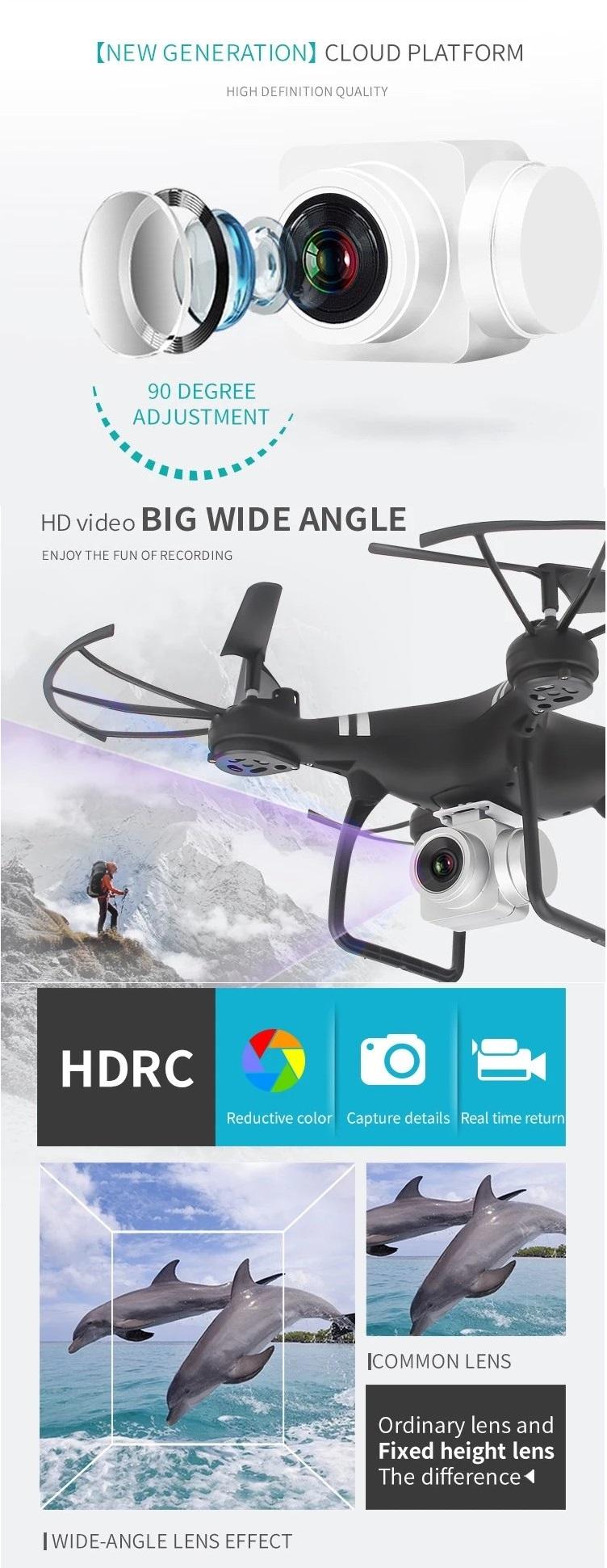 Camoro quadcopter drone with camera remote control aircraft drone WiFi mini drone camera