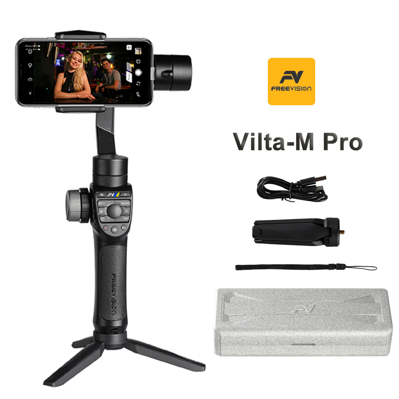 Freevision Vilta-M Pro 3-axis Handheld Gimbal stabilizer for Mobile Phone iPhone Huawei P30 Pro Gopro Vlog Smartphone stabilizer фото