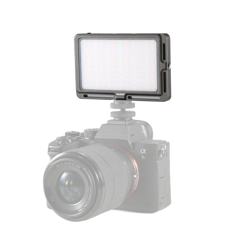 Bao Bì Gốc LED Video Ánh Sáng Trên Máy Ảnh Vẻ Đẹp Đèn Làm Cho Lên Quay Phim