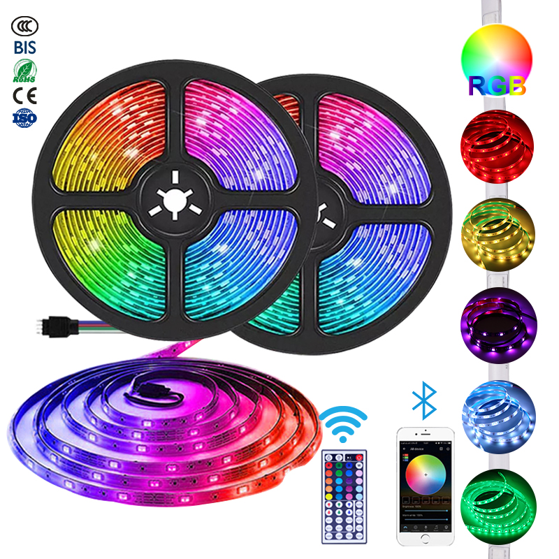 Rgb 5050 Stripes Waterproof Strips Smart Tape Addressable Ledstrips Room Lights Color 5 Meter Led Strip Light
