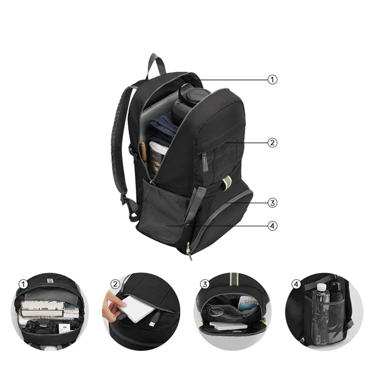 Large Capacity Outdoor Lightweight Foldable Backpack