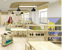 Kids Kindergarten Study Furniture Sets Preschool classroom Children Tables and Chairs