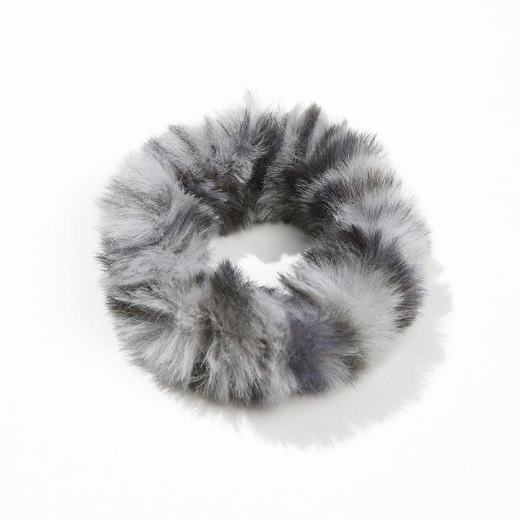 Women Hair Accessories Rope Girls Fuzzy Leopard Faux Fur Rabbit Hair Scrunchies Elastic Pompom Hair Ties