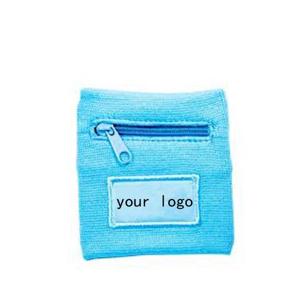 2019 оптовая продажа из хлопковой махровой ткани, дешевый изготовленный на заказ спортивный браслет с застежкой на молнию карман