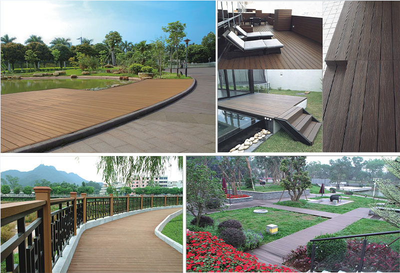 Eco-friendly Co-extrusion Wood Composite Flooring/Decking for Modern House Foshan China Supplier