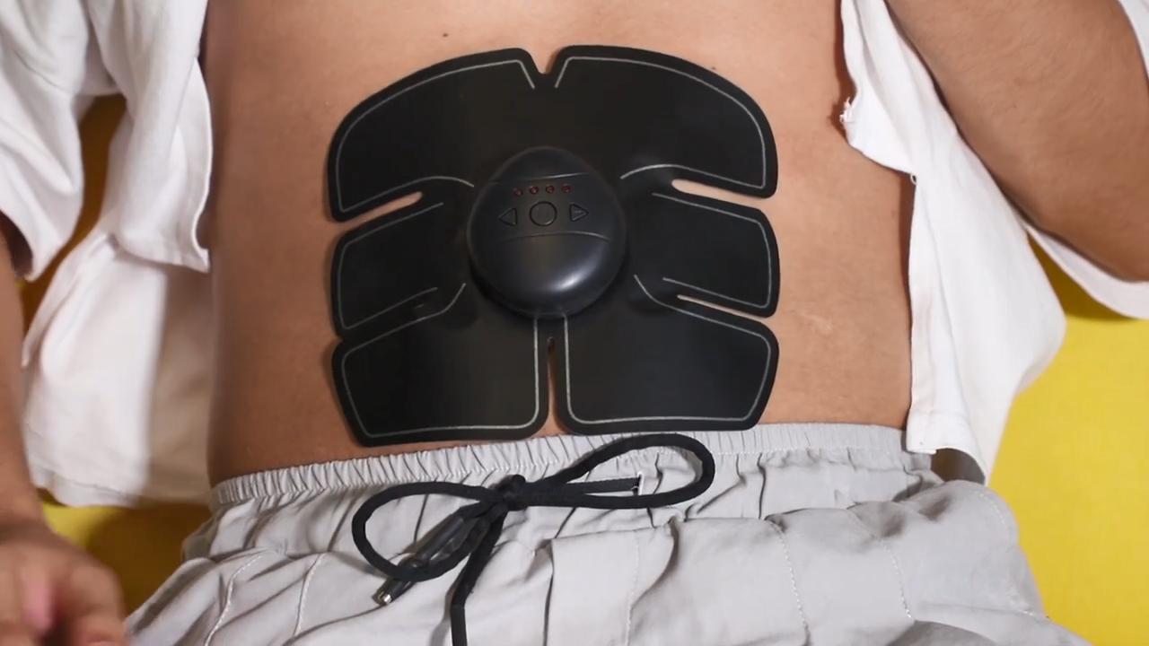 Electric muscle stimulator smart USB abdominal belt home body massage training ems fitness machines
