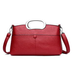 OEM Factory drop shipping fashion mature lady bags women leather shoulder handbag