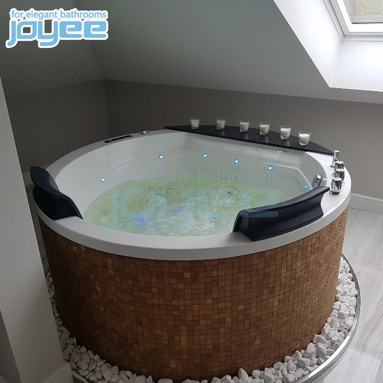 JOYEE factory cheap price drop in home hotel soaking acrylic bathtub freestanding 52 inch with air bubble
