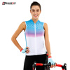 Darevie OEM custom women Sleeveless cycling clothing Cycling Vest with Back Pocket for outdoor Road MTB lady cycling jersey