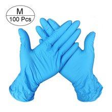 100 штук/одноразовые латексные защитные перчатки общая очистка защита труда салон красоты водонепроницаемые Утепленные Перчатки(Китай)