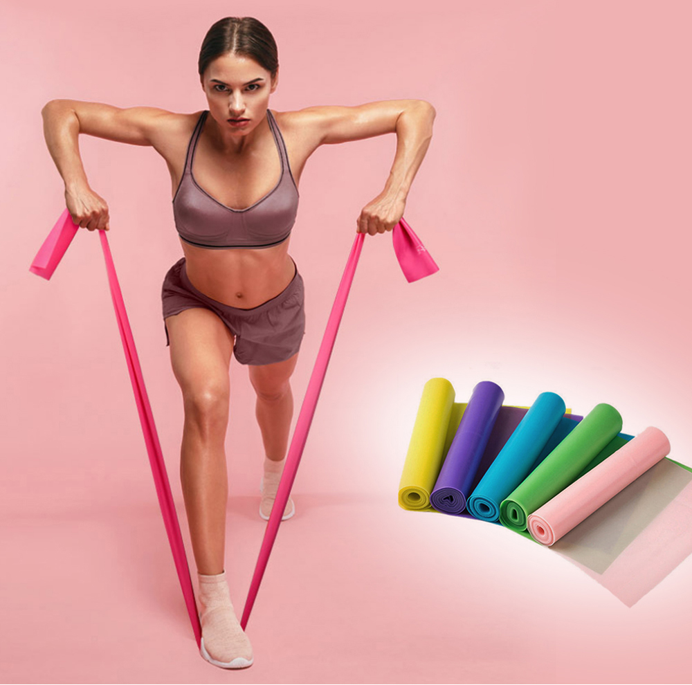 Durable high stretch bodybuilding fitness theraband