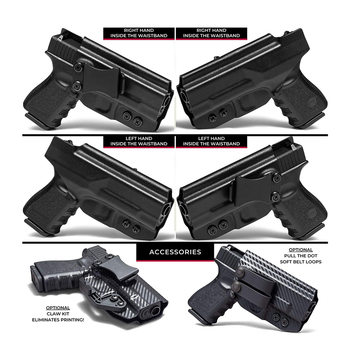 gun accessories glock 26 conceal cz p09 holster cytac tactical concealed gun belt clip carry iwb fanny pack gun holster