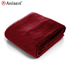 hot sale soft plush double layer cozy cover dyeingr flannel fleece blanket