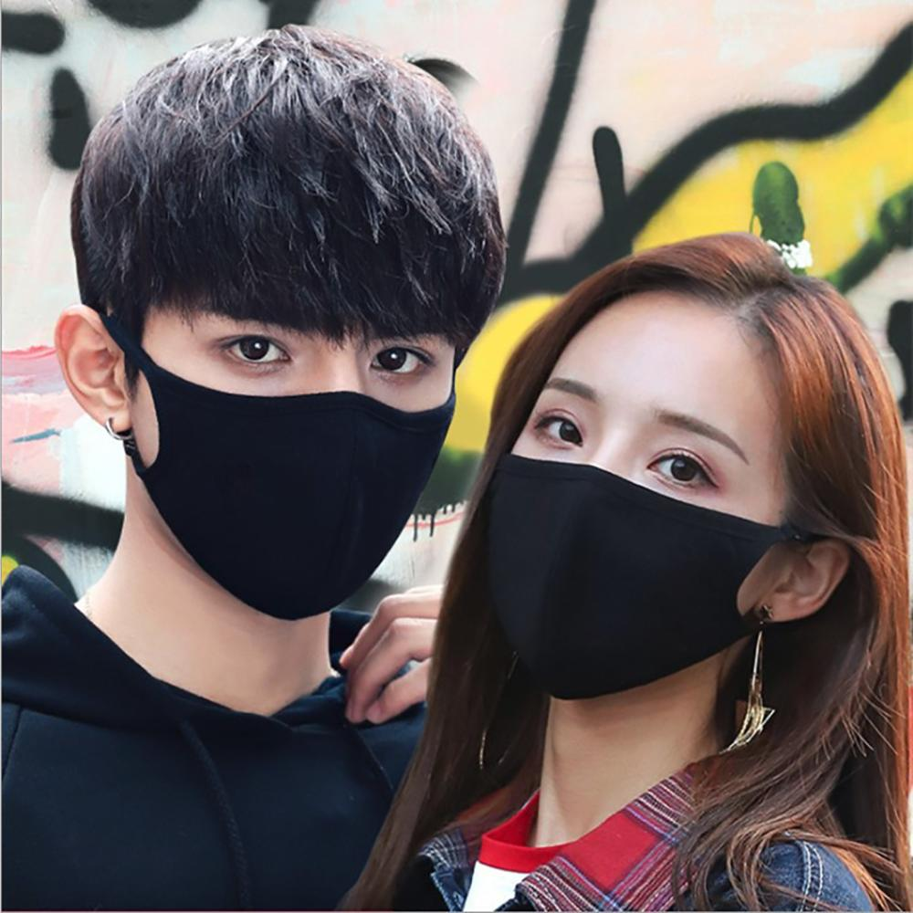 Washable Cotton PM2.5 Mouth Mask with Activated Carbon Filter Adjustable Reusable Windproof Face Masks