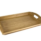 Natural Bamboo Wood Serving Tray With Handles