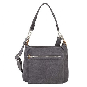 Hot sale anti-theft heritage hobo women cotton canvas tote bag shoulder bag