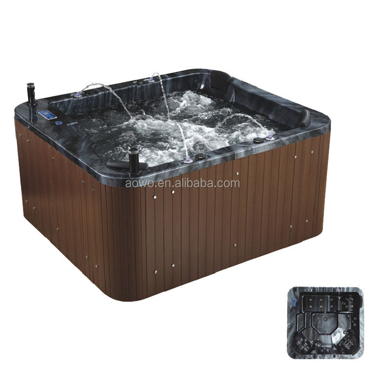 acrylic spa pool swim/ hot tub pool combo/ fibreglass swimming pool hot tub combo inground outdoor luxury big pool