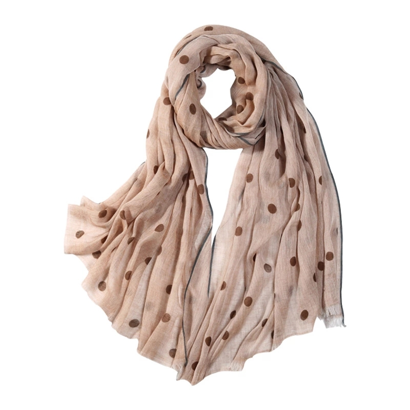 wholesale long ladies printed 100% wool scarf shawls