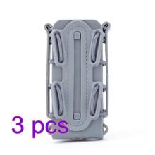 3 шт. WST гибкий TPR Скорпион маг мешок Быстрый Маг для 9 мм Luger/.45 ACP Mag на открытом воздухе тактика аксессуары-оливково-зеленый/черный(Китай)