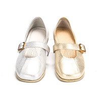fashion nude dance shoes pointe gold silver ballet flats shoes women
