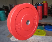 Solid Rubber Bumper Plates for Powerlifting Strength Training Rubber Metal Plates