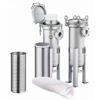 SS316L Double Size #2 Bags Filter Housing with Sanitary Connections for Beauty Plant Shea Butter Filtration