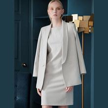 Женский элегантный костюм-двойка, осенне-зимний комплект из блейзера и пиджака, платье-карандаш средней длины, деловая одежда для офиса(Китай)
