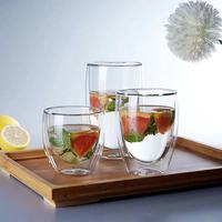 High Quality Double Wall Shot Glass / Glass Coffee Tea Cups / Mugs / Drinking Glasses Cups
