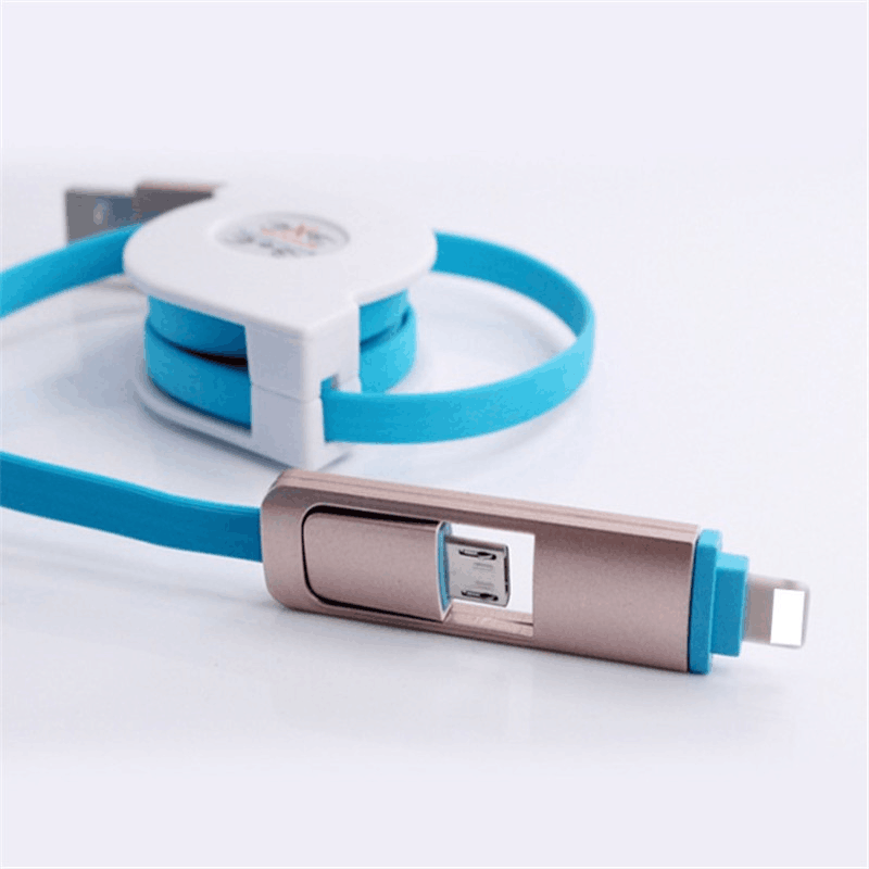 Oempromo one side pull logo custom retractable usb cable