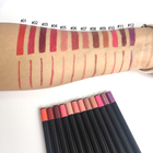 Wholesale cute single lipstick and lip liner private label nude brown red lip liner