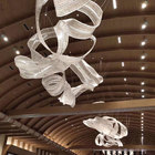 Lights Crystal Light Lighting Chandelier Hanging Lights Fixtures Lighting Decoration Big Hotel Lobby Crystal Abstract Customized Modern Chandelier For High Ceiling