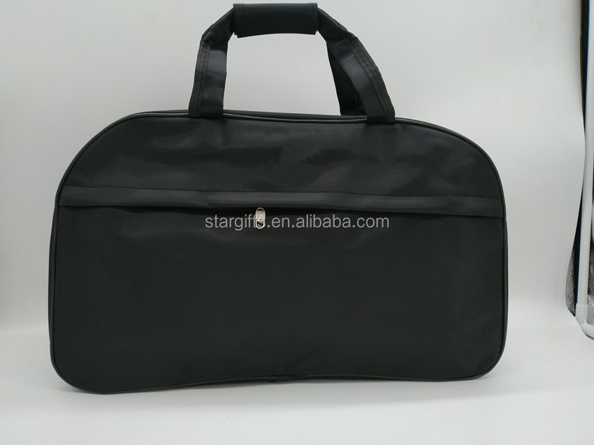 2020 Hot Sale Durable Water-proof New Zipper Sports Custom Nylon Travel Bag with Big Front Zip Pocket