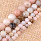 Real Natural Pink Opal Gemstone Beads for Jewelry Making