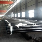 Black Painted 1/2 API Round Carbon Seamless Steel Pipes/Tubes To 24 Inch