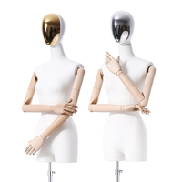 Fashion Boutique Clothing Store Abstract Dummy Torso Clothes Display Mannequin Female and Male with Plated Head