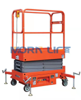 2m lifting height hydraulic scissor lift window cleaning lift