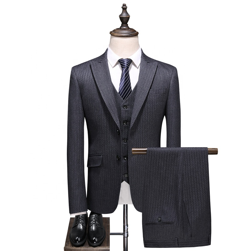 Men's Groom 3 pieces Wedding Dress Plaid <strong>Formal</strong> <strong>Suits</strong> Set Men Fashion Casual Business <strong>Suit</strong>