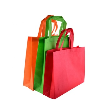 custom non woven shopping bags with logo and handles, wholesale eco-friendly cut recycle pp non woven tote bag or promotional