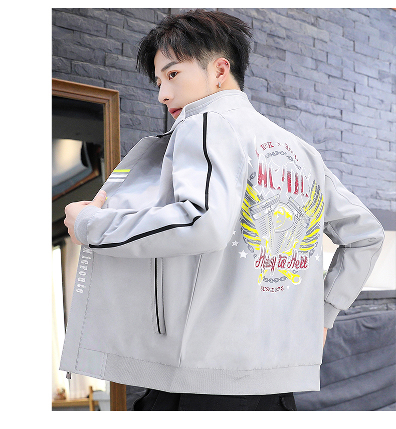 2020 Wholesale High Quality Mens' Flight Bomber Jacket Printed Logo Casual Hip Hop Fashion Jacket