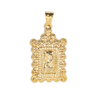 New wholesale fashion golden square pendant Muslim religious jewelry pendant 22k gold-plated pendant