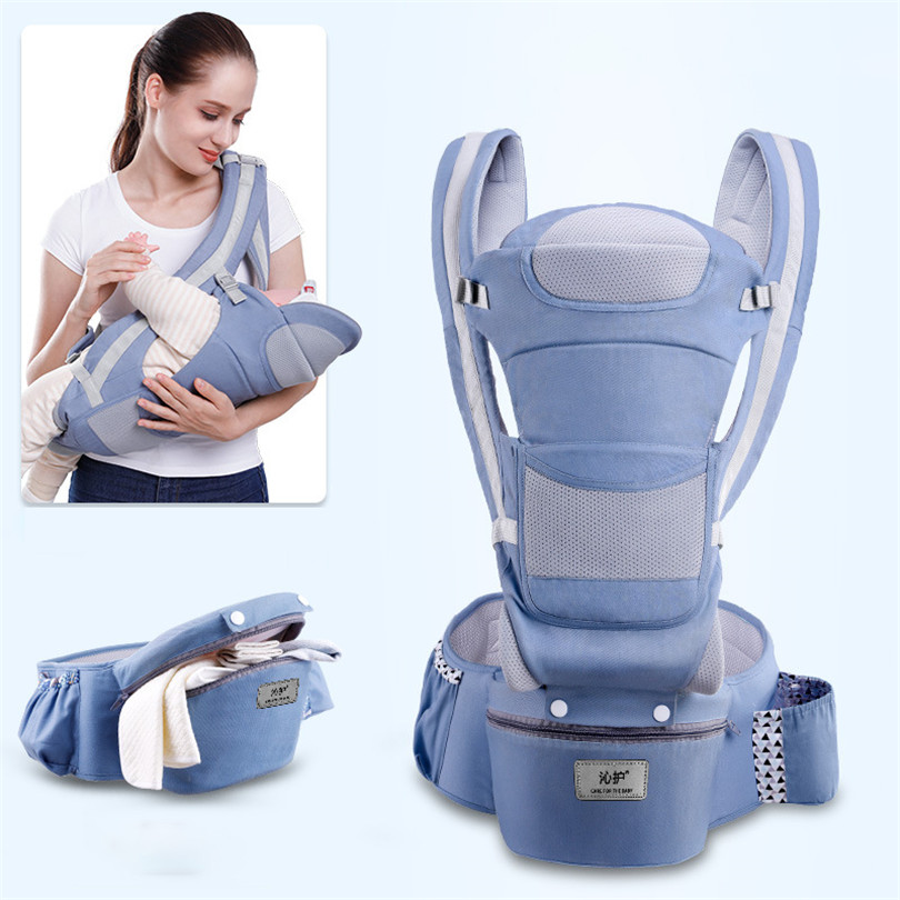 Easy to Put On 6 Comfortable Positions Ergonomic 360 Baby Soft Carrier,Baby Sling Wrap Baby Carrier Ergonomic