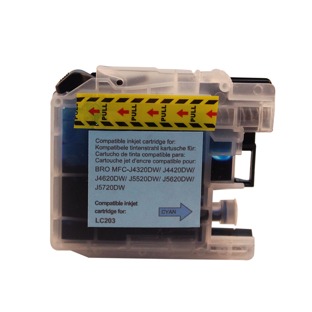 Plastic Bottle Refillable Chips LC203 ink cartridges for Brother MFC-J4320DW MFC-J4420DW MFC-J4620DW MFC-J5520DW
