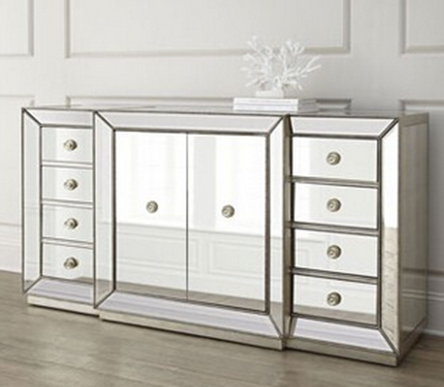 Glass Mirrored Dining Room Buffet Hutch Cabinet Mr-4g0139 - Buy Us Mirrored  Dining Room Hutch,Glass Mirrored Buffet,Living Room Mirrored Cabinet ...