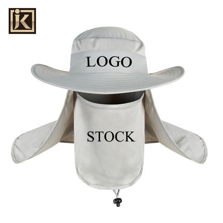 JAKIJAYI brand nylon fabric low moq custom logo outdoor fisherman bucker hat Sun Protection Fishing hat WHOLESALE BUCKET HAT