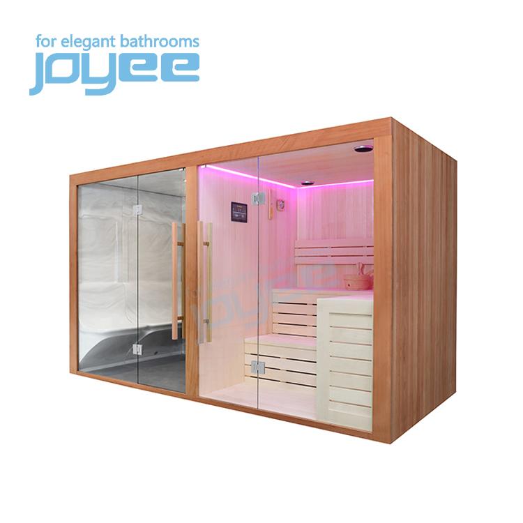 JOYEE bid size villa resort hotel steam sauna combination shower room outdoor cedar sauna shower 6 person