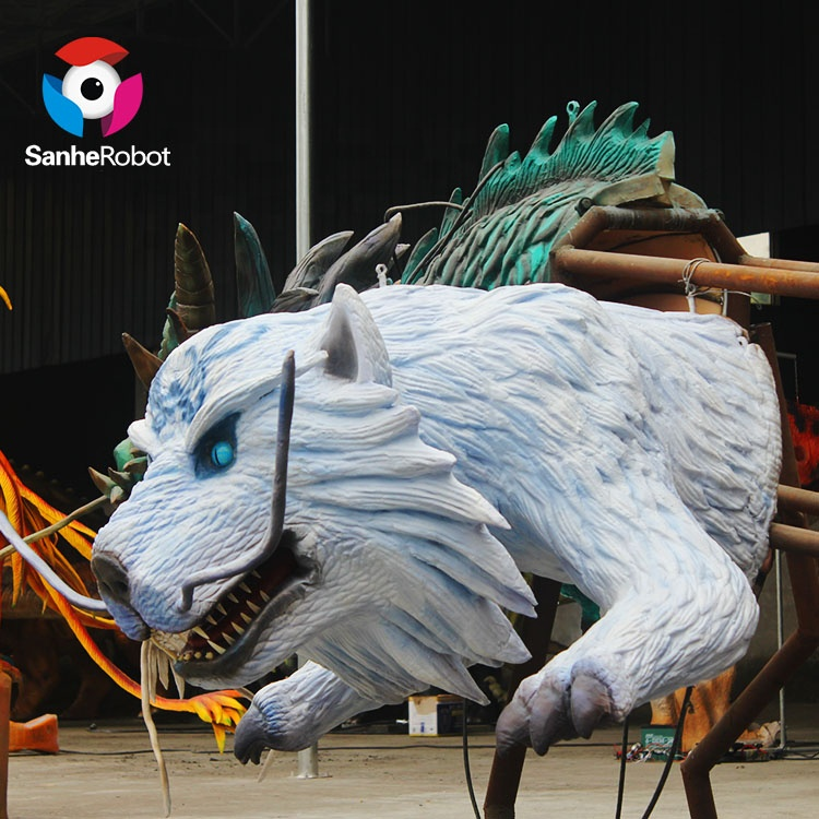Used second hand amusement equipment white tiger for promotion