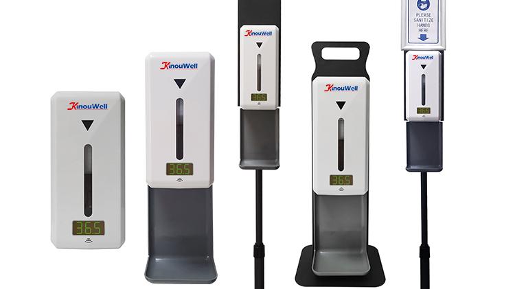 Sanatizing dispensador dispensador de sabão mão de temperatura de medição de temperatura inteligente