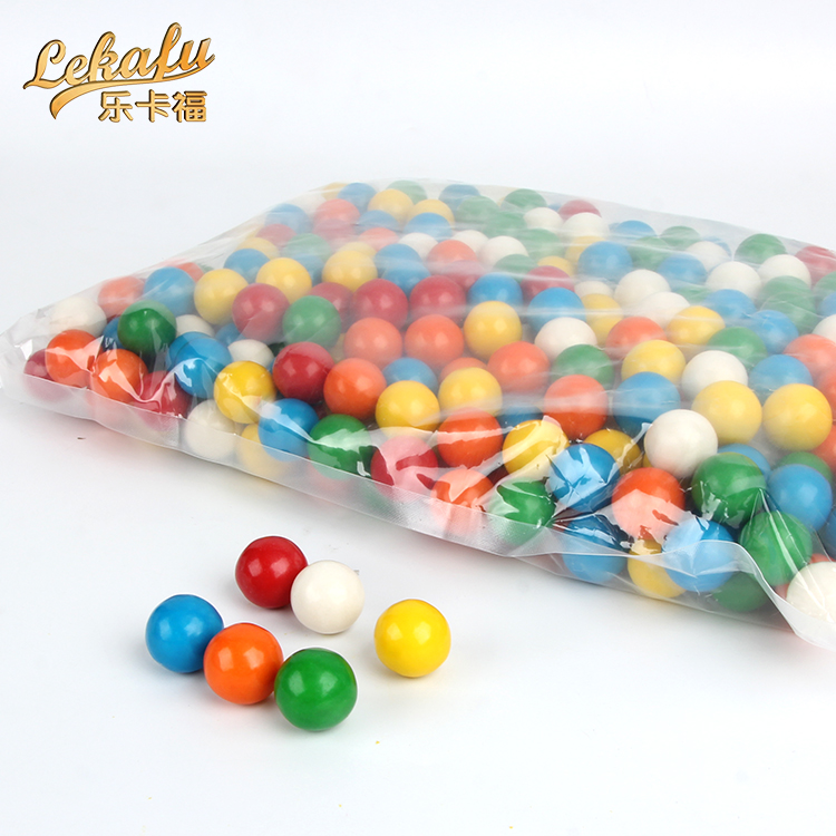 Gum ball round shaped bubble gum in polybag bulk packed for vending machine